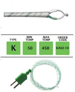 TME-KA02-10-Fibre-Glass-Fine-Wire-Temperature-Probe-Layer