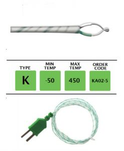 TME-KA02-5-Fibre-Glass-Fine-Wire-Temperature-Probe-Layer