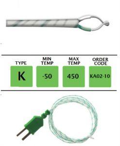 TME-KA02-10-Fibre-Glass-Fine-Wire-Temperature-Probe-Layer